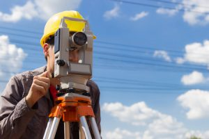 Land Surveying being done
