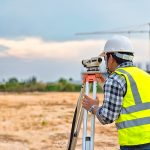 construction layout during land surveying